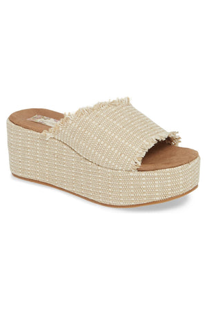 Wren Vegan Jute Fabric Natural Wedge Slide Sandal Master