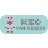 Pink Robot Mini Label