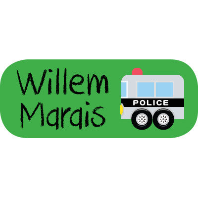 Police Mini Label