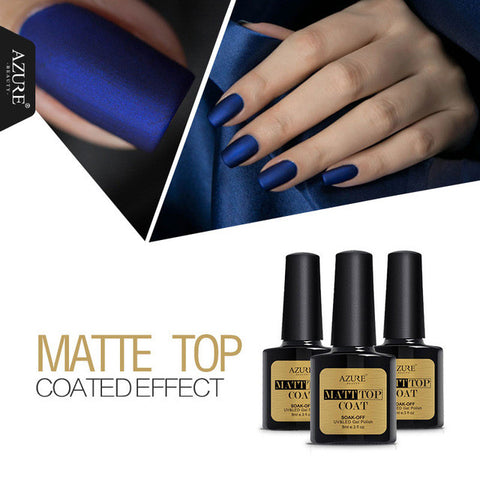 Azure Beauty 8ml Matt Matte Top Coat Nail Gel Polish Nail Art Top Coat Gel Lacquers Long Lasting Uv Led Matt Nail Gel Glue