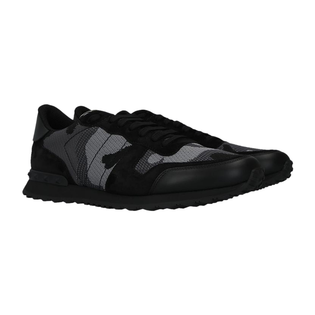 Valentino Mesh Fabric Camouflage Rockrunner Trainers