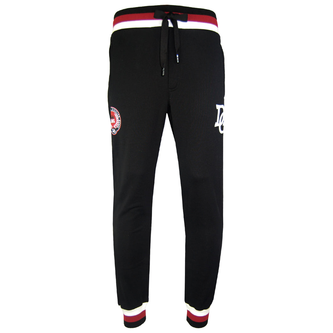 Dolce & Gabbanna Logo Patch Jogging Bottoms-TROUSERS