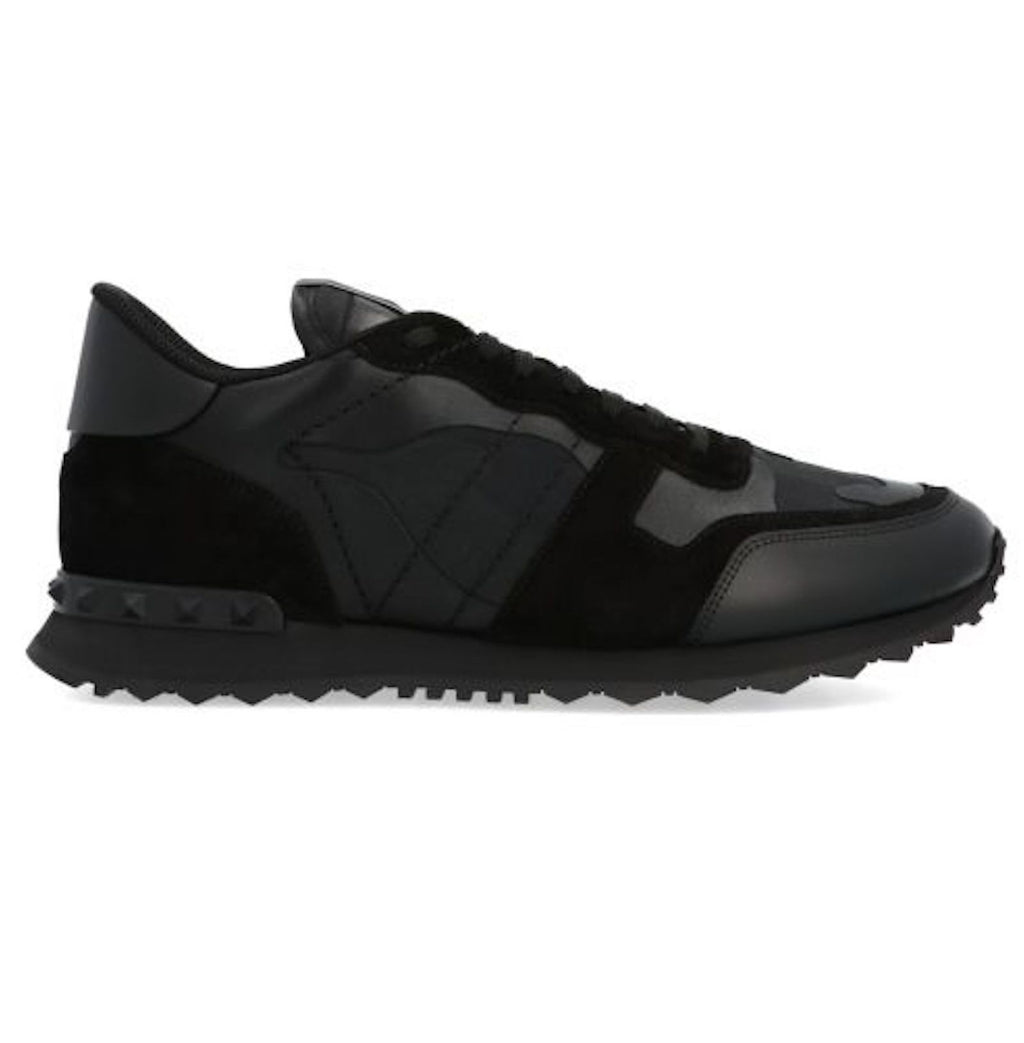 Valentino Black Camouflage Rockrunner Trainers-Trainers