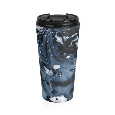 """Midnight"" Abstract Travel Cup - BOSSMOVESINC BOUTIQUE"