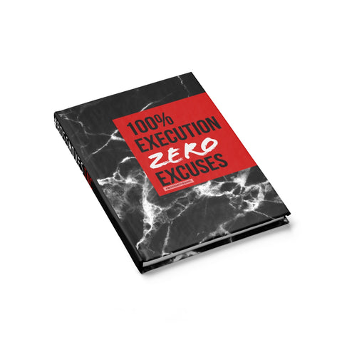 ZERO EXCUSES Journal - Ruled Line - BOSSMOVESINC BOUTIQUE