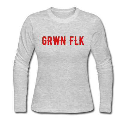 GRWN FLK Women's Long Sleeve Jersey T-Shirt - BOSSMOVESINC BOUTIQUE