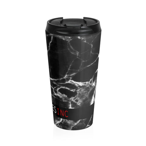 MarbleUs II BOSSMerch Lidded Travel Cup - BOSSMOVESINC BOUTIQUE
