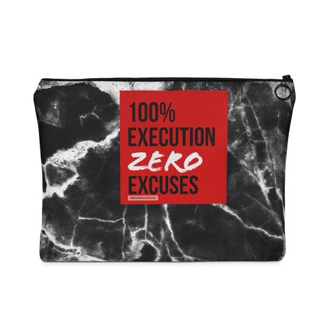 ZERO EXCUSES Carry All Pouch - Flat - BOSSMOVESINC BOUTIQUE