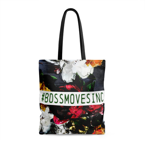 """#BOSSMOVES..."" Floral (Wht/Grn) Tote"