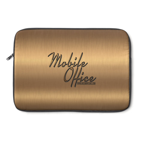 """Mobile Office"" Bright Bronze Laptop Sleeve II"