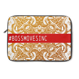 """#BOSSMOVESINC"" Rd/Gld Ornate Laptop Sleeve - BOSSMOVESINC BOUTIQUE"