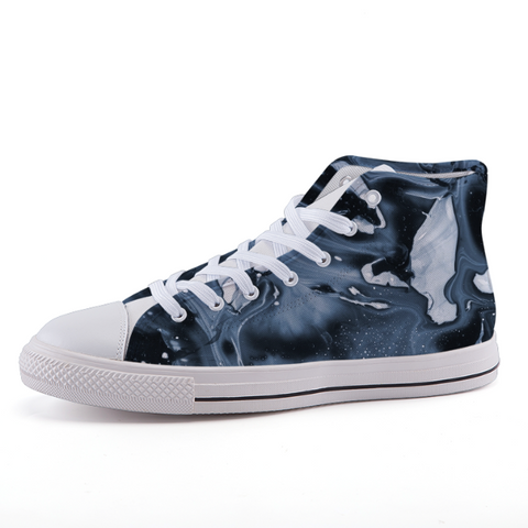 "[UNISEX] ""Midnight Abstract"" HI-TOPS - BOSSMOVESINC BOUTIQUE"