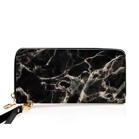 MarbleUs II Zippered Clutch Wallet - BOSSMOVESINC BOUTIQUE