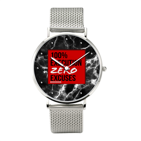 [HIS] ZERO EXCUSES Stainless Steel Water Resistant Watch I - BOSSMOVESINC BOUTIQUE