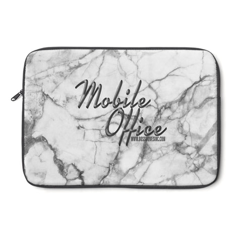 """Mobile Office"" Marble I Laptop Sleeve - BOSSMOVESINC BOUTIQUE"