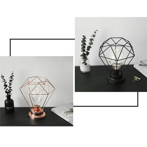 Edison Style Metal Gem Night Lamp - BOSSMOVESINC BOUTIQUE