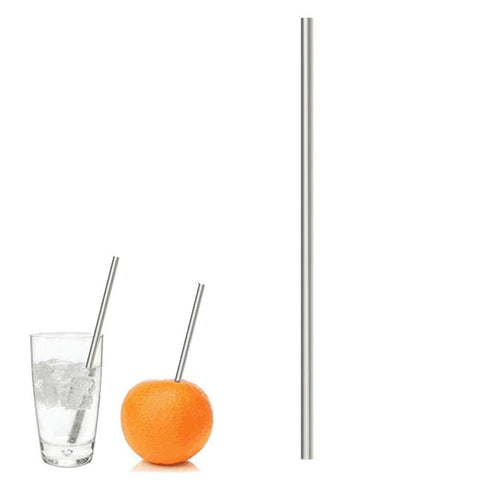 Stainless Steel Foldable Reusable Drinking Straw w/ Cleaner - BOSSMOVESINC BOUTIQUE