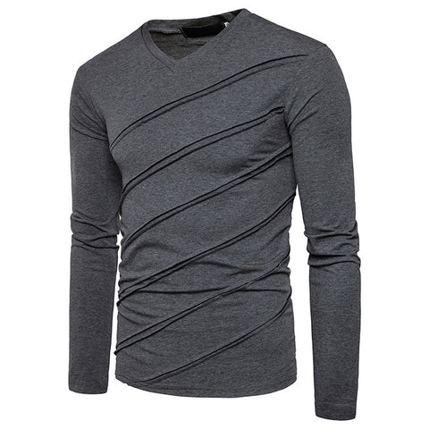 HIS Slash-Ruched V-Neck Sweater - BOSSMOVESINC BOUTIQUE