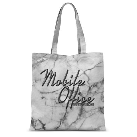 """Mobile Office"" Marble Tote - BOSSMOVESINC BOUTIQUE"