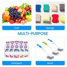 "Load image into Gallery viewer, Sink Caddy Sponge Holder Sponge Organizer Caddy Rag Detergent Brush Dishwashing Liquid Rack Expandable 14-3/4"" to 20"" Stainless Steel"