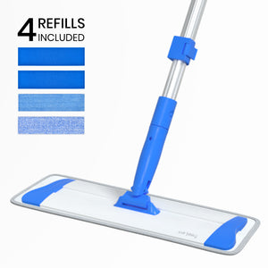 Microfiber Mop Floor Mops for Cleaning with Long Handle 360 Dust Mopping with Reusable Mop Pads for Hardwood Tile Laminate Vinyl Wood Floors Kitchen