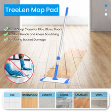 Load image into Gallery viewer, Microfiber Mop Floor Mops for Cleaning with Long Handle 360 Dust Mopping with Reusable Mop Pads for Hardwood Tile Laminate Vinyl Wood Floors Kitchen