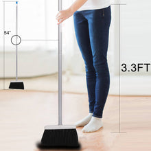 Load image into Gallery viewer, Broom and Dustpan Set, Sweep Set Upright Long Handle Stand Up & Store Indoor Outdoor for Home Kitchen