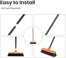 Load image into Gallery viewer, TreeLen Push Broom Multi-Surface Outdoor Broom with Stiff Bristles for Sidewalk Driveway Yard Patio Decks Garage Cleaning