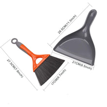 Load image into Gallery viewer, Dustpan and Brush Set For Table Orange