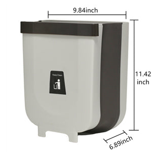 Trash Can 2.3Gallon for Kitchen Bathroom Outdoor - Grey