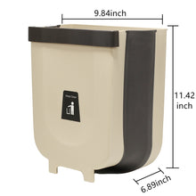 Load image into Gallery viewer, Trash Can 2.3Gallon for Kitchen Bathroom Outdoor - Brown Khaki