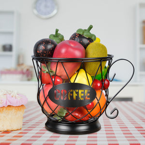 Coffee Pod Holder Mug Shape MultiUse K Cup Holder Kcup Storage Organizer for Counter Coffee Bar Black