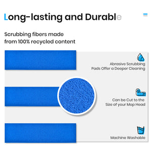 Scrubbing Pads for Floor Mop Scour Mop Refill Pads for Tile Glass Kitchen