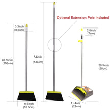 Load image into Gallery viewer, Broom and Dustpan&Dust pan Set-Upright Broom and Dustpan Combo with Long Extendable Handle for Lobby Kitchen Room Floor Best Cleaning Supplies