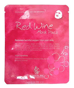 Naisture Red Wine Mask Pack, 5pc 22ml