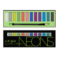 L.A. Girl Beauty Brick Eyeshadow, Neons, 0.42oz/12g