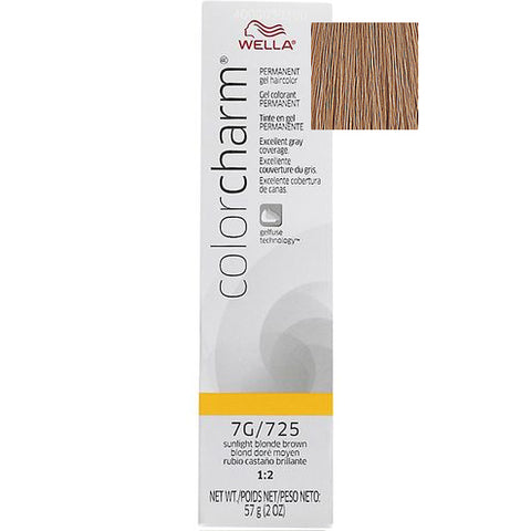 Wella Color Charm Permanent Gel Hair color, Sunlight Blonde Brown