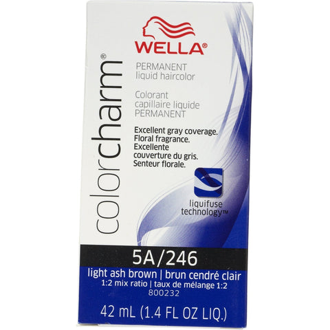 Wella Permanent Liquid Hair color, Light Ash Brown, 1.4oz/42mL