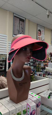 FASHION SUN VISOR with RETRACTABLE SIDE SHIELDS-HOT PINK
