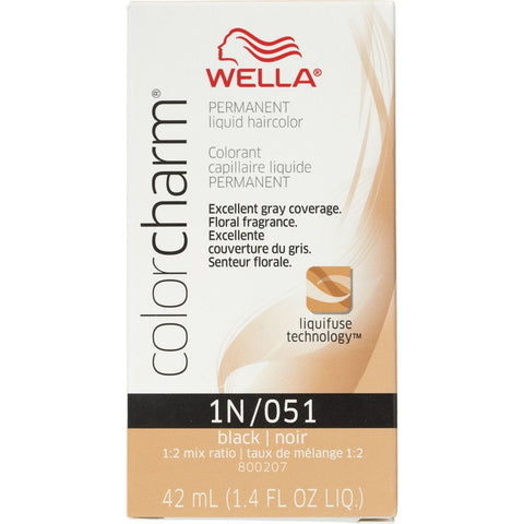 Wella Permanent Liquid Hair color, Black, 1.4oz/42mL