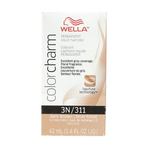 Wella Permanent Liquid Hair color, Dark Brown, 1.4oz/42mL