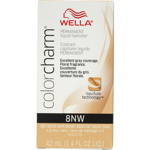 Wella Permanent Liquid Hair color, Light Natural Warm Blonde, 1.4oz/42mL