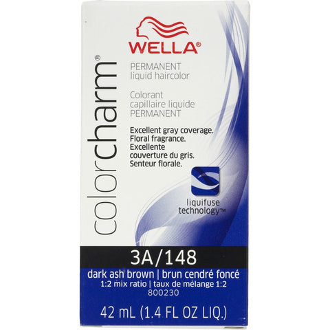 Wella Permanent Liquid Hair color, Dark Ash Brown, 1.4oz/42mL