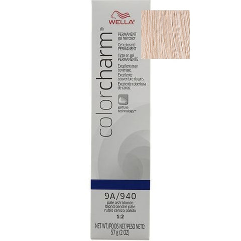 Wella Color Charm Permanent Gel Hair color, Pale Ash Blonde