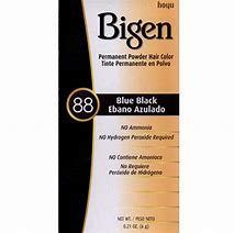 Bigen Permanent Powder Hair Color #88 Blue Black .21oz