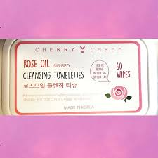 CHERRY CHREE Rose Oil Infused Cleansing Towlettes 60pcs