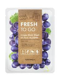 TONYMOLY Fresh To Go GRAPE Mask Sheet PORE CARE 22g