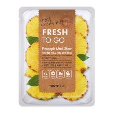 TONYMOLY Fresh To Go PINEAPPLE Mask Sheet BRIGHTENING 22g