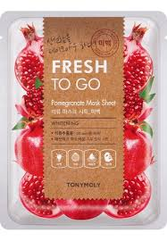 TONYMOLY Fresh To Go POMEGRANATE Mask Sheet WHITENING 22g