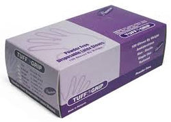 TUFF GRIP Powder Free Disposable Latex Gloves(Large) 100 pack